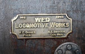 E.P. Ripley - WED Locomotive Works Bonze Plaque