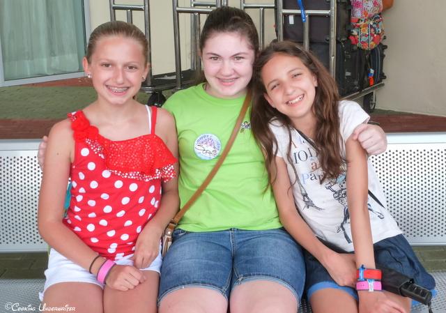 Riley, Sophie, and Miss J at Bay Lake Tower at Disney's Contemporary Resort